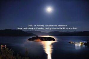 ay ışığının denize yansıması ile ilgili sözler