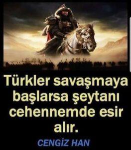 türk hakanı sözleri